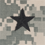 ACU Rank Insignia without Velcro for the Army Combat Uniform